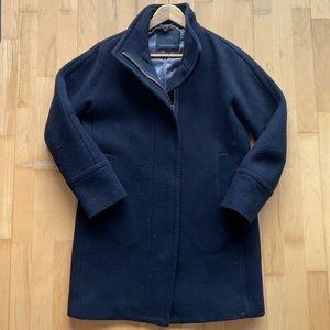 Size 6 J Crew Black Cocoon Coat